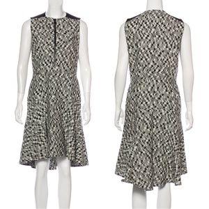 AKRIS PUNTO black & white abstract print dress